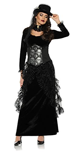 Women's Gothic Victorian Costume - Dark Mistress, Black, Extra large - Mistress Dress Costume