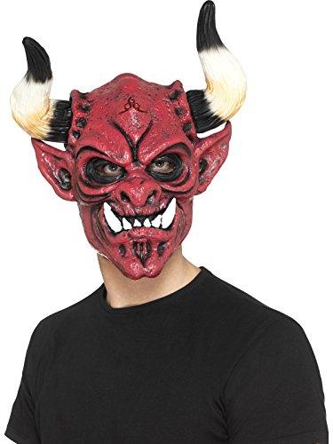 Smiffys Men's Devil Mask, Foam Latex, Multi, One -