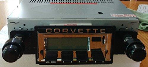 1968-1976 Chevrolet Corvette Bluetooth enabled High power AM/FM Stereo Radio KHE300 USB Flash, Aux, Mini SD ()