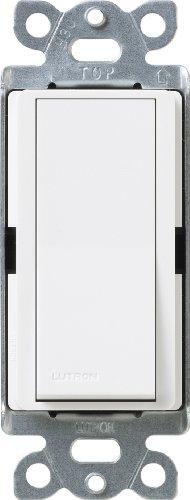 Lutron SC-4PSNL-SW Diva Satin Colors 15-Amp 4-Way Switch with Locator Light, Snow