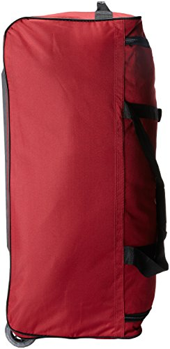 Rockland Luggage 36 Inch Rolling Duffle Bag, Red, Large