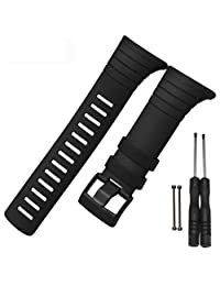 For SUUNTO CORE SS014993000, Kingfansion Luxury Rubber Watch Replacement Band Strap