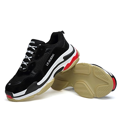 66 Town No Men Couple Platform Lace Running Shoes Sneakers Black up fq55drA