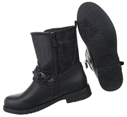 Damen Schuhe Stiefel Western Style Modell Nr.2 Schwarz