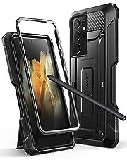SupCase Case voor Galaxy S21 Ultra [Unicorn Beetle Pro] Shock Bumper Case Beschermt met robuuste potloodhouder (exclusief pen) - Zwart