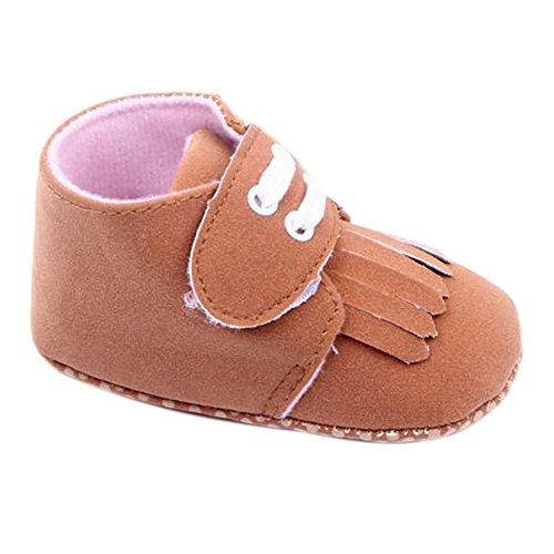 Fire frog Fringed Sneaker - Zapatos primeros pasos de nailon para niño marrón