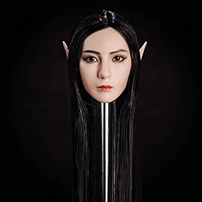 Yamix 1/6 Scale Female Head Sculpt, Beuty Charming Girl Elve Doll Head with 2 Pairs of Ears for 12 Action Figure: Toys & Games