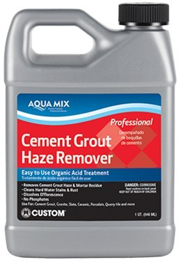 Aqua Mix Cement Grout Haze Remover - 32 oz Quart - Removes Cured Grout and Mortar Residue - Efflorescence, Rust, Hard Water Stain, Lime Deposit Cleaner - For Tile, Granite, and Natural Stone ()
