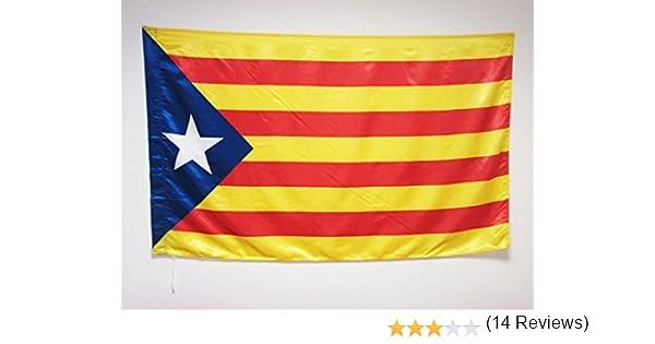 AZ FLAG Bandera de CATALUÑA ESTELADA BLAVA 150x90cm en Raso para ...
