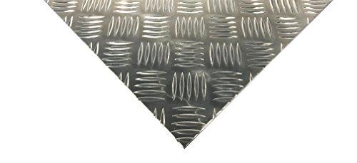 Alu Riffelblech 1,5//2mm Duett 1000x2500mm Aluminium Blech Warzenblech Zuschnitt