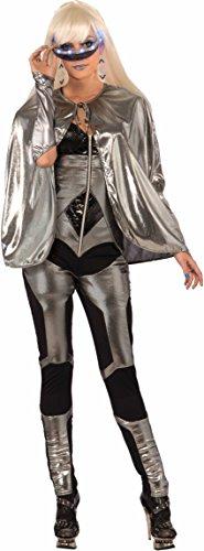 Forum  Futuristic Fantasy Costume Cape Adult Costume, -Silver, One Size