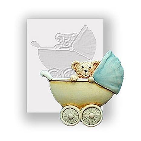 Molde de silicona - carrito para bebé Ted en - apto para ...
