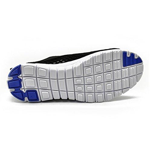 Kensbuy Mujeres Breathable Mesh Zapatos, Outdoor, Water, Beach Aqua, Climing, Antideslizante, Azul Y Negro