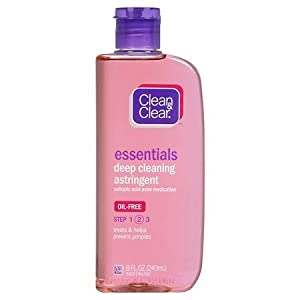 Clean and Clear Essentials Deep Cleaning Astringent, 8oz Per Bottle