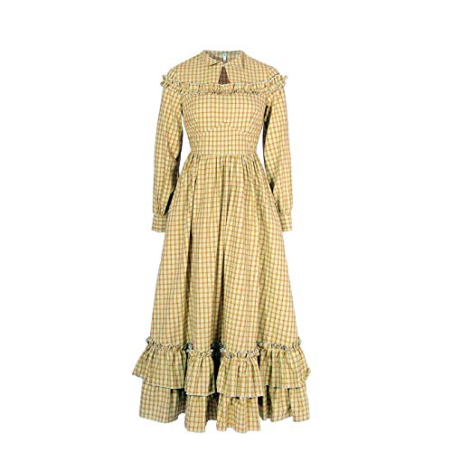 NSPSTT Women Girls American Pioneer Colonial Dress Prairie Costume (XX-Large, Yellow)]()
