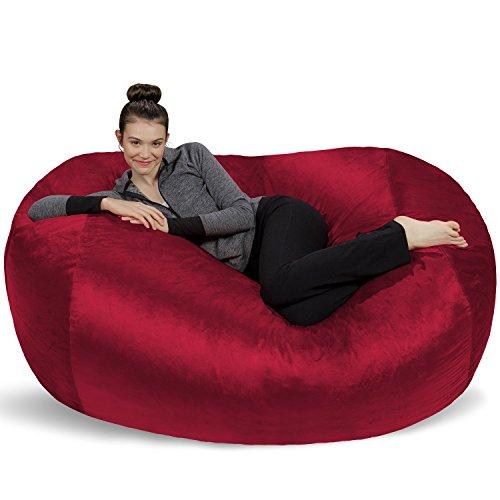Sofa Sack - Plush Bean Bag Sofas with Super Soft Microsuede Cover - XL Memory Foam Stuffed Lounger Chairs for Kids, Adults, Couples - Jumbo Bean Bag Chair Furniture - Cinnabar 6' (Lounger Love)