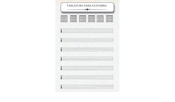 CUADERNO DE TABLATURA PARA GUITARRA: Tamaño A4 - 200 páginas - 7 ...