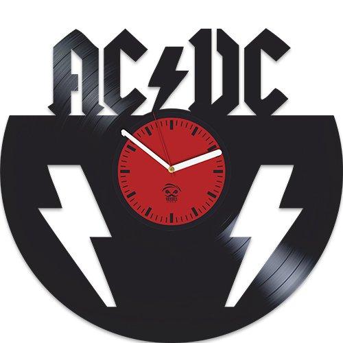 AC DC, ACDC, Rock Band Music, Tnt, Highway to Hell, Vinyl Record Best Gift For Dad Mom Grandpa Grandma Boy Girl Kovides Vinyl Wall Clock Home Decoration Room Inspirational, Vinyl Wall Clock Silent