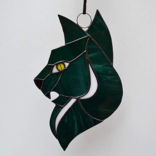 Halloween Bat decor Stained Glass Hand Suncatcher Ornament home Window art decor