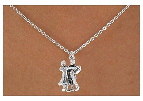 Dancing Couple & Necklace (Flip Sterling Necklace Silver)
