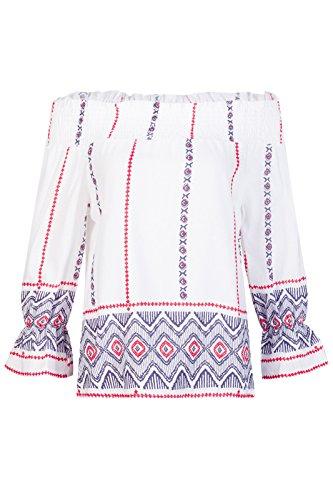 Beauty7 Off Hombro Florales Impresiones Camisetas Mujer Loose Mangas Larga Tops T Shirt Parte Superior Blusa Palya Vacaciones Casual Ocasionales Cold Shoulder Verano