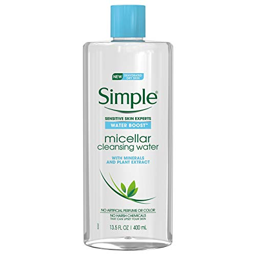 Simple Water Boost Micellar Cleansing Water for Sensitive Skin Twin Pack (Facial Water Cleanser)