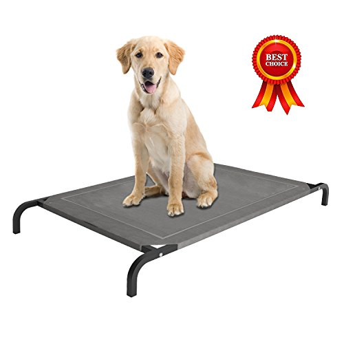 Home Intuition Elevated Pet Bed with Breathable Knitted Fabr