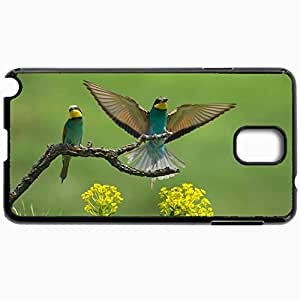 Personalized Protective Hardshell Back Hardcover For Samsung Note 3, European Beeeaters Design In Black Case Color