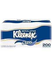 Kleenex Servilletas Class, color Blancas, 200 Piezas