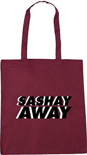 HippoWarehouse Sashay away Tote Shopping Gym Beach Bag 42cm x38cm, 10 litres Burgundy