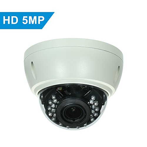5MP (4MP / 1080P / 1440P / 1520P) Camera HD Dome POE IP Camera Explosion-Proof 2.8-12mm 4X Optical Manual Zoom Internal Focusing Lens H.265/H.264 Optional 1/2.7