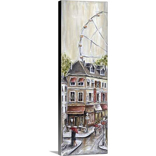 (Paris Under The Ferris Wheel Canvas Wall Art Print, 12