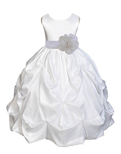 Zipper Taffeta Wedding Dress - 1