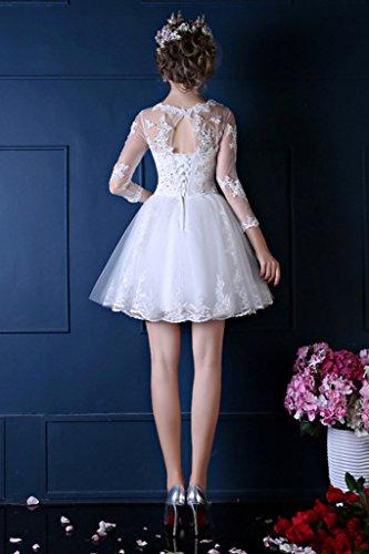 46 Blanco Vestido Para Trapecio Vimans Mujer xA0Sgwq