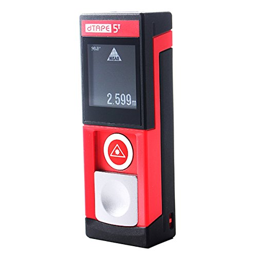 HITSAN MiledTAPE T5 60M/196ft Intelligent Small Size Touch Panel Infrared Laser Distance Tester Rangefinder One Piece