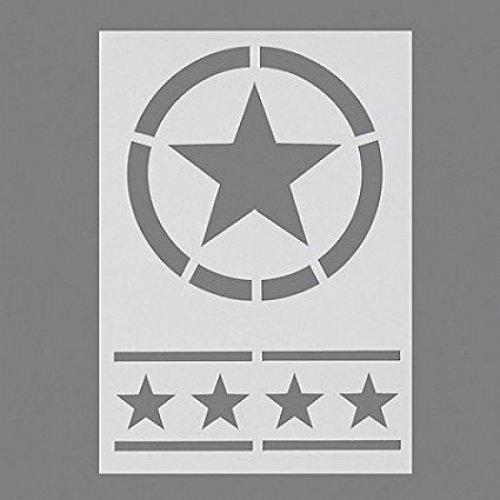 Efco Stars Stencil in 2 Designs, Plastic, Transparent, A5 9320771