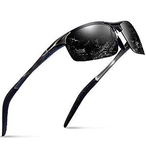 6be090782eda54 Sports Polarized Sunglasses for Men – Feirdio Mens Sports Glasses Metal  Frame Driving sunglasses 2266