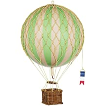 Hot Air Balloon Replica - Authentic Models Floating in the Air - Color: True Green