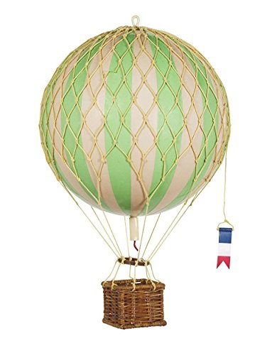 Hot Air Balloon Replica - Authentic Models Floating in the Air - Color: True Green -