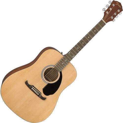 Fender 0961210121 FA-125 Dreadnought Acoustic Guitar, Natural w/ Gig Bag