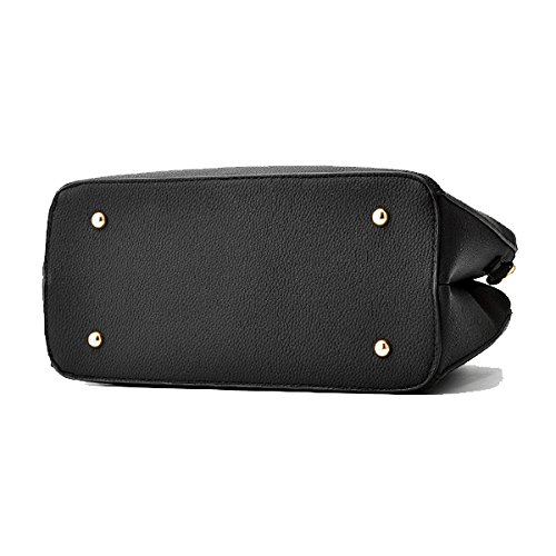 01 Handbag Bag Leather Crossbody 01 Faway PU Women Casual Black z1Zpwp