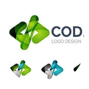 alfombrilla de ratón diseño del código icónico logo hecho de pedazos de color - ronda - 20cm