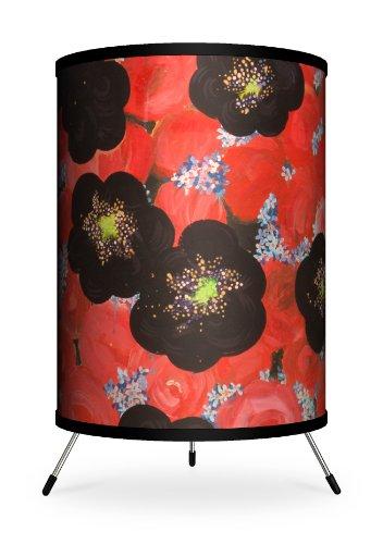 Lamp-In-A-Box TRI-FAR-AGFLO Feature Artist Alexandra Jurassic Flower Field Rose Tripod Lamp