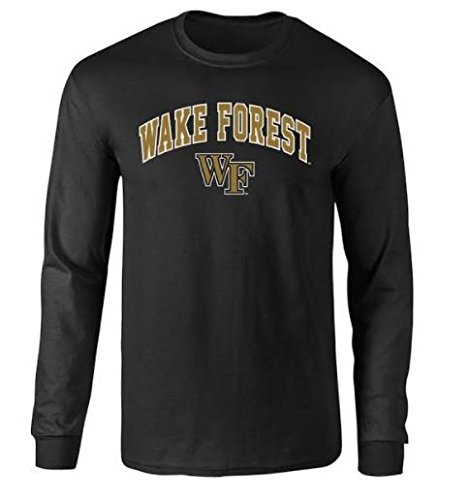 Wake Forest Demon Deacons Long Sleeve Tshirt Arch Black - M