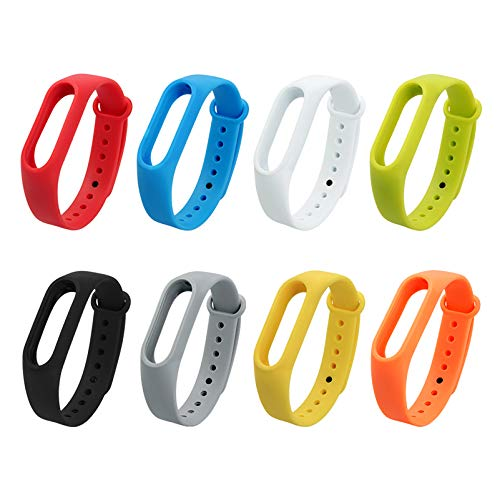 Amazon.com: LingStore Soft Silicone Replacement Smart Watch Case correas para reloj for Xiaomi Miband Mi Band 2 Case Smart Bracelet Cover: Kitchen & Dining