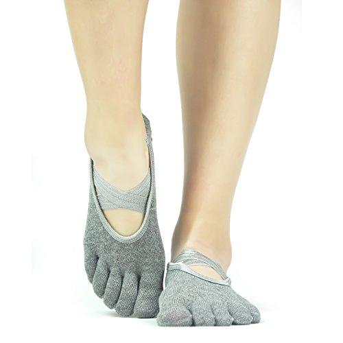Gripper Ballet Barre Pilates Socks - Elutong Yoga Non Skid Slip Sticky Socks for Women