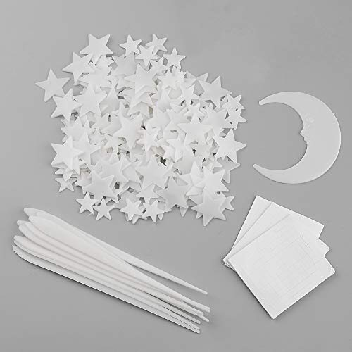 Glow in The Dark Stars and Moon and Shooting Stars,Toddler Decorations Room Decor Kit Bright Wall Stickers for Ceiling Decals in Kid Room,Total 213 Pcs