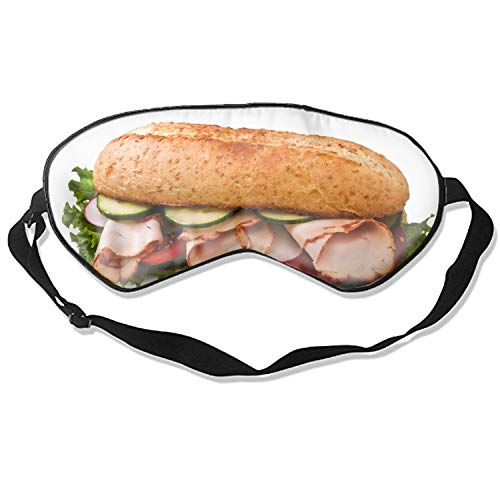 ft Silk Eye Mask for Sleeping, Blindfold for Women and Kids (Sandwich Meat Greens Cucumbers Cabbage) ()