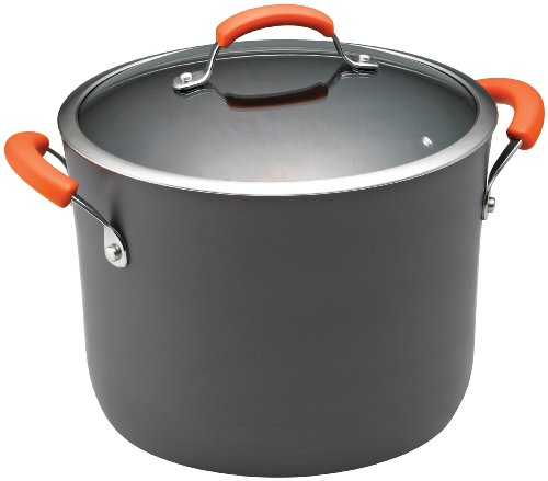 Rachael Ray Hard Anodized II Nonstick Dishwasher Safe 10-Quart Covered Stockpot, - Pot Safe Dishwasher Stock