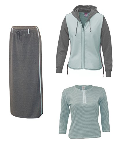 Baby'O Clothing Co. Three Piece Hoodie Skirt Set Extra Small Blue